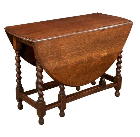Jacobean Style Gate Leg Table
