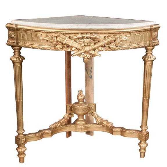 Louis XVI Style Corner Console Table – Montgomery Antiques & Interiors