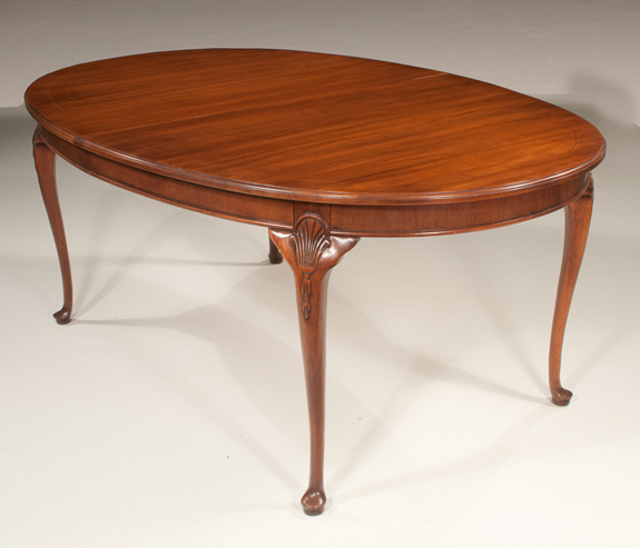Oval Queen Anne Style Dining Table Sold