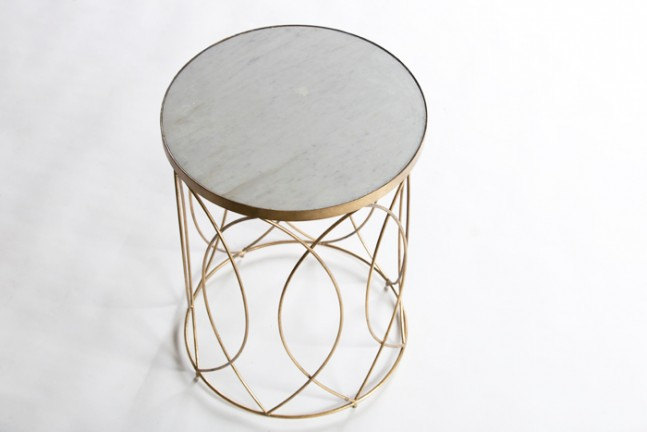 Drum Shaped Coffee Table.Drum Shaped Accent Table